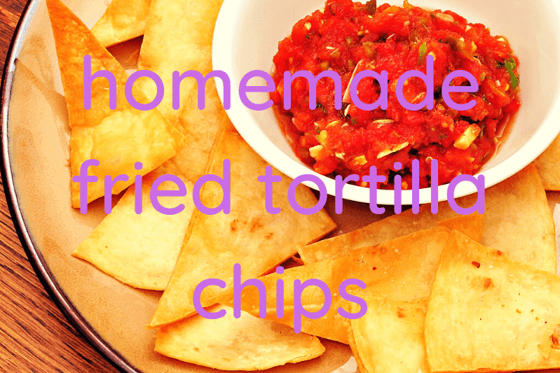 tortilla chips with bowl of salsa