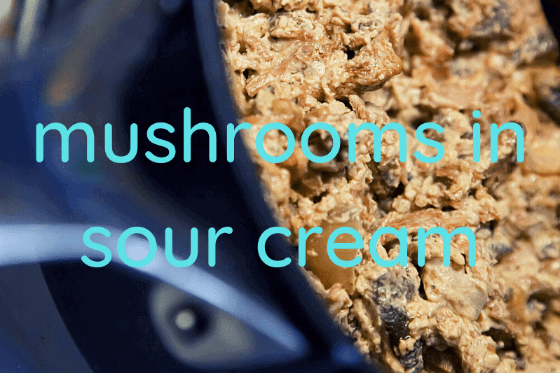 mushroom sauce in skillet