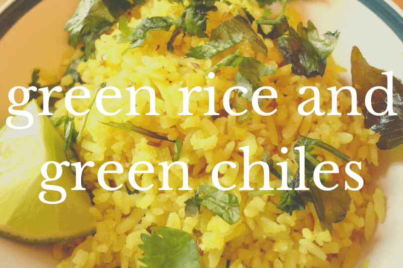 rice and greens in bowl