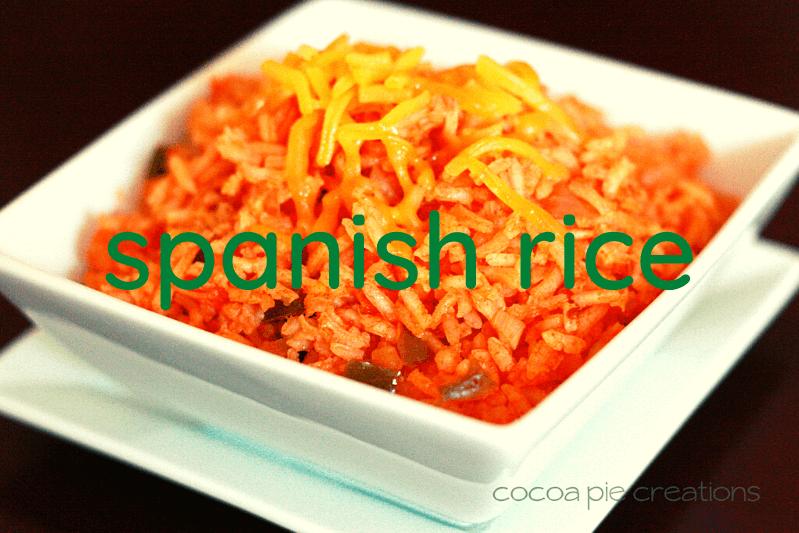 square white bowl of spanish rice