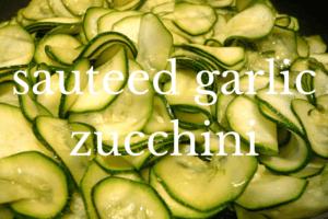close up of sauteed zucchini