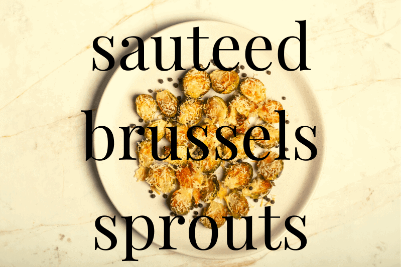 brussels sprouts on white plate