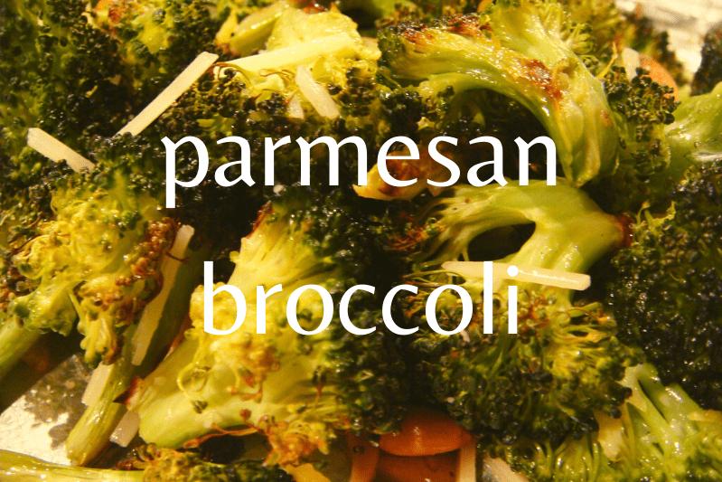 close up of parmesan broccoli
