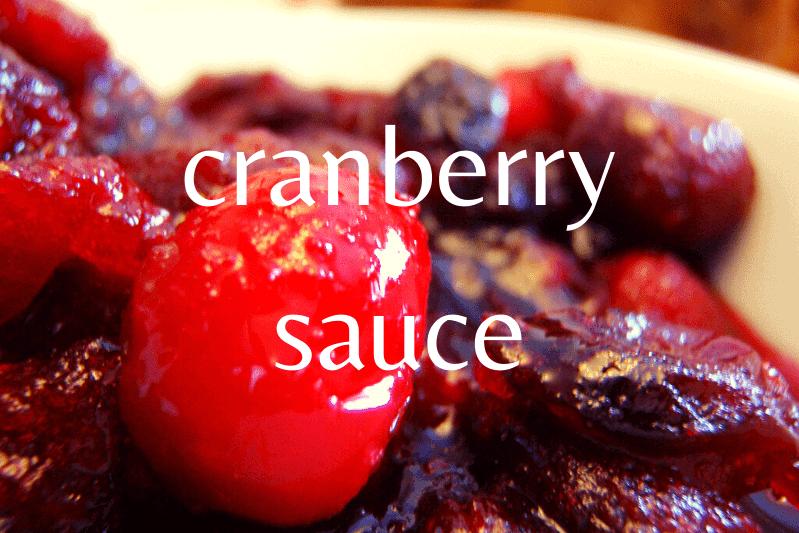 close up of cranberry sauce