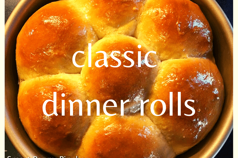 cooked dinner rolls close up