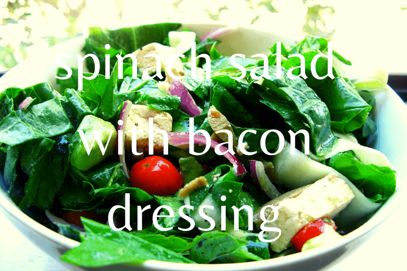 spinach salad in bowl