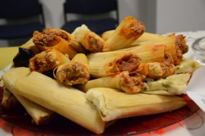 close up of pile of tamales